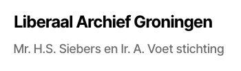 Liberaal Archief Groningen